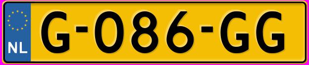 Laatste kenteken: G-086-GG