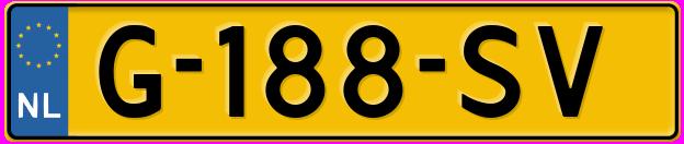Laatste kenteken: G-188-SV