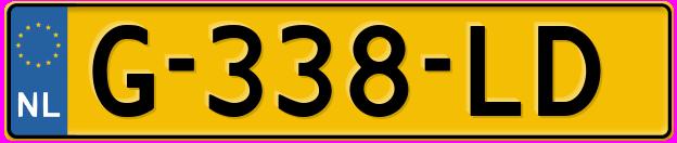 Laatste kenteken: G-338-LD
