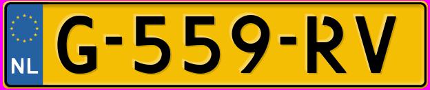 Laatste kenteken: G-559-RV