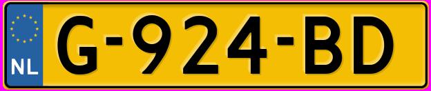 Laatste kenteken: G-924-BD