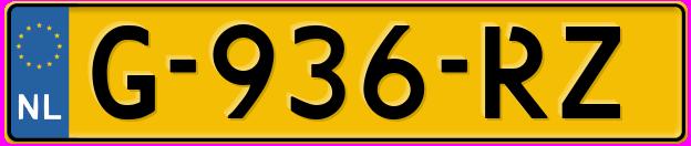 Laatste kenteken: G-936-RZ