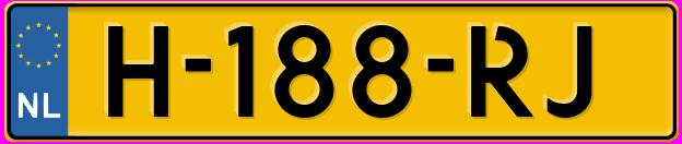Laatste kenteken: H-188-RJ
