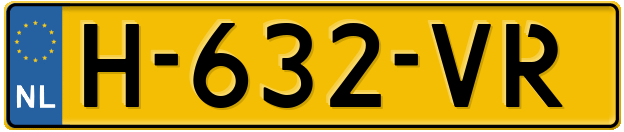 Laatste kenteken: H-632-VR