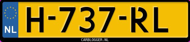 Laatste kenteken: H-737-RL