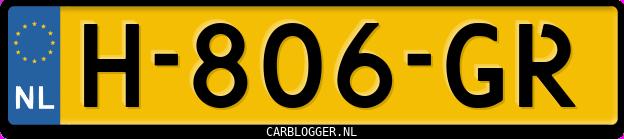 Laatste kenteken: H-806-GR
