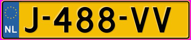 Laatste kenteken: J-488-VV