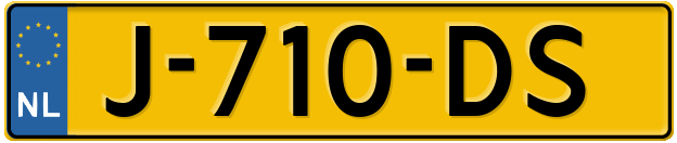 Laatste kenteken: J-710-DS