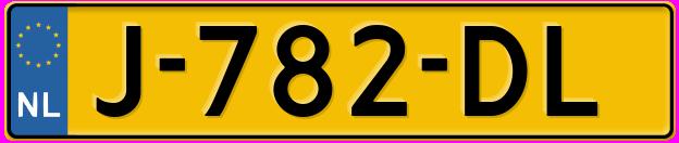 Laatste kenteken: J-782-DL