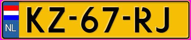 GAIK kentekenplaat met NL vlag ipv EU sterretjes