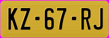 Amerikaanse 18.2 kentekenplaat