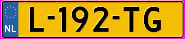 Laatste kenteken: L-192-TG