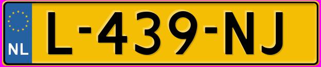Laatste kenteken: L-439-NJ