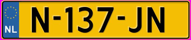 Laatste kenteken: N-137-JN