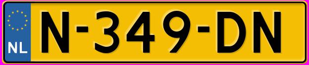 Laatste kenteken: N-349-DN