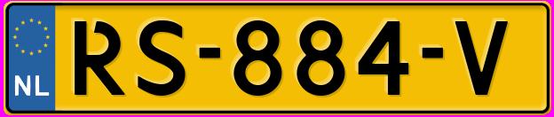 Laatste kenteken: RS-884-V