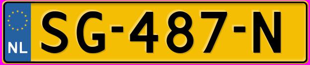 Laatste kenteken: SG-487-N