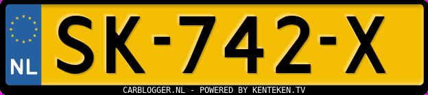 Laatste kenteken: SK-742-X