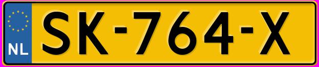 Laatste kenteken: SK-764-X