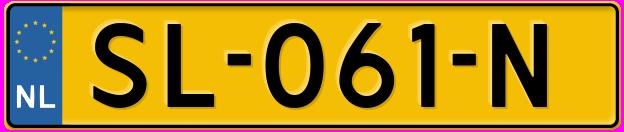 Laatste kenteken: SL-061-N