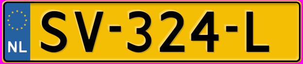 Laatste kenteken: SV-324-L