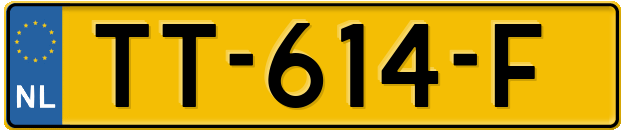 Laatste kenteken: TT-614-F