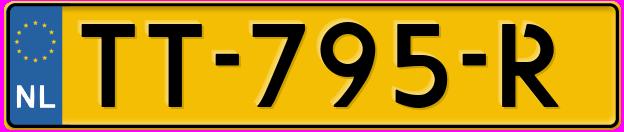Laatste kenteken: TT-795-R