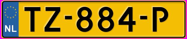 Laatste kenteken: TZ-884-P