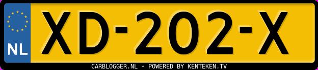 Laatste kenteken: XD-202-X