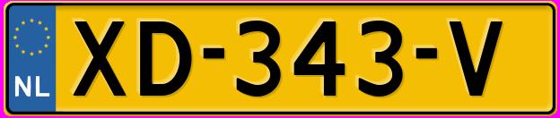 Laatste kenteken: XD-343-V