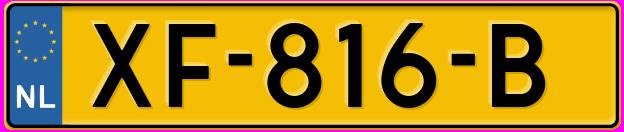 Laatste kenteken: XF-816-B