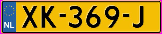 Laatste kenteken: XK-369-J