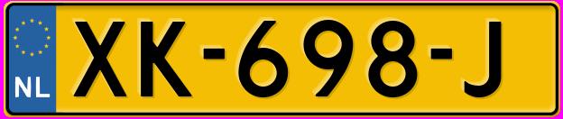 Laatste kenteken: XK-698-J