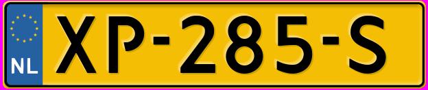 Laatste kenteken: XP-285-S