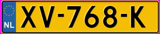 Laatste kenteken: XV-768-K