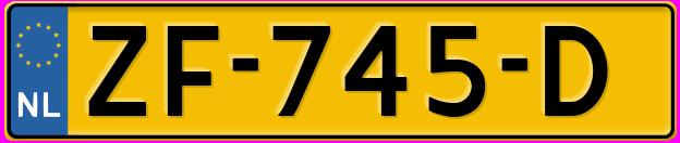 Laatste kenteken: ZF-745-D