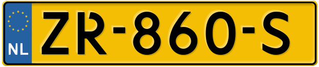Laatste kenteken: ZR-860-S