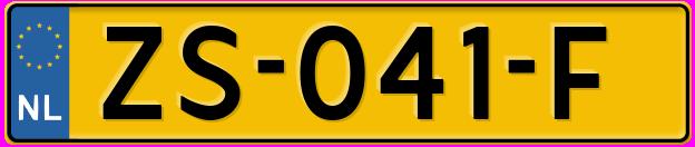Laatste kenteken: ZS-041-F