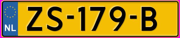 Laatste kenteken: ZS-179-B